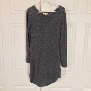 Long Sleeve Gray Bodycon Dress